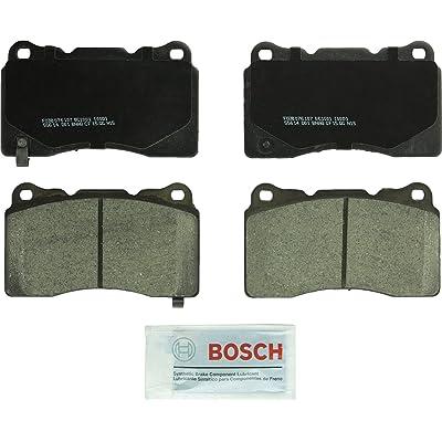 Bosch BC1001 QuietCast Premium Ceramic Disc Brake Pad Set For Select Buick, Cadillac, Chevrolet, DeTomaso, Ford, Hyundai, Mitsubishi, Pontiac, Saab, Subaru, & Volvo Vehicles; Front & Rear: Automotive