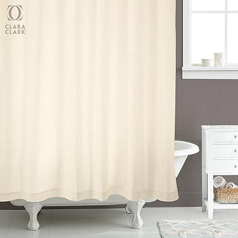 Shower Curtain U2013 Cream Sand Color   72u201d By 72u201d, 12 Grommets,
