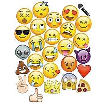 27 piezas emoji caras photo booth props para boda fiesta de cumpleaños eventos por Trimming Shop: Amazon.es: Juguetes y juegos