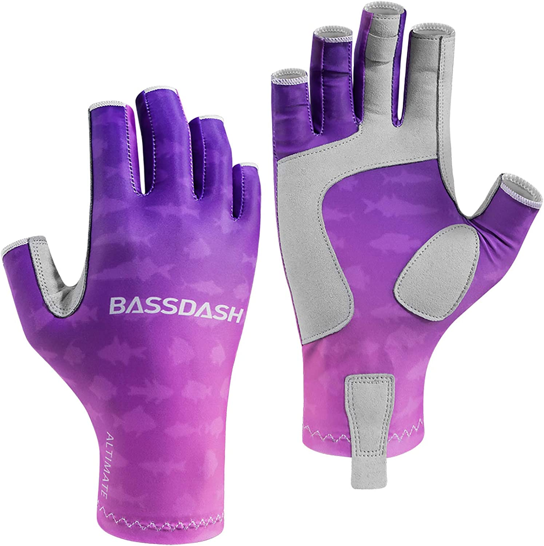Bassdash ALTIMATE Anglerhandschuhe Fahrradhandschuhe Sonnenschutz Fingerlose Winter Handschuhe f/ür M/änner und Frauen zum Kajakfahren Paddeln Wandern Radfahren Fahren Schie/ßtraining