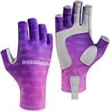 Bassdash ALTIMATE UPF 50+ Women's Fishing Gloves UV Sun Protection Fingerless Gloves for Kayaking Paddling Hiking…