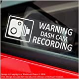 5 x WARNING DASH CAM Recording-30x87mm WINDOW Stickers-Vehicle Camera Security Warning Dash Cam Signs-CCTV,Car,Van,Truck,Taxi,Mini Cab,Bus,Coach