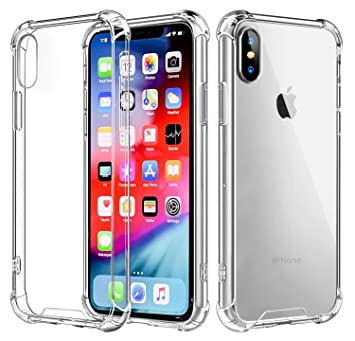huge selection of 476f7 adb92 iPhone XR Case, iPhone XR Clear Case, iPhone XR Tpu Case, Shock-absorbent  Scratch-resistant Cover Case with Transparent Hard PC Back Plate and ...