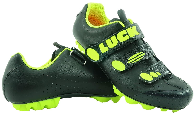 LUCK Zapatillas de Ciclismo Matrix Revolution MTB, con una estupenda Suela de Carbono Muy Ligera y rígida y Triple Velcro para un Ajuste: Amazon.es: ...