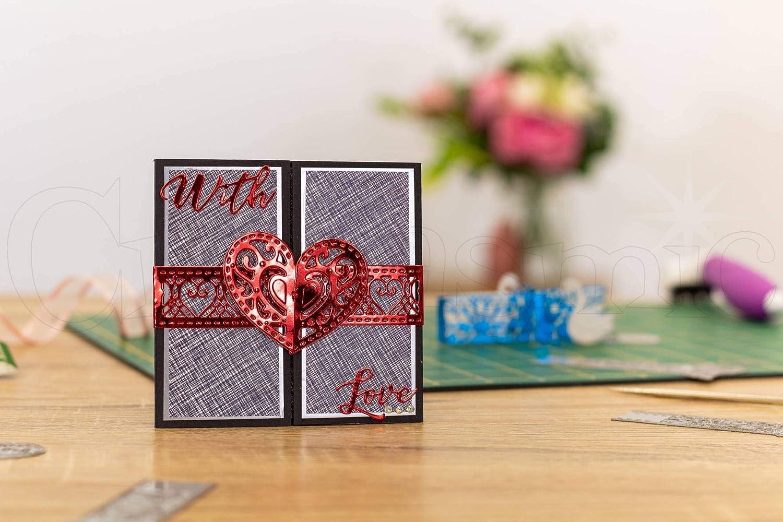 Crafters Companion GEM-MD-ELE-LOHE Gemini Elemente Wickeln Sterben F/ür Cardmaking und Liebe Herz Crafting Einheitsgr/ö/ße Multi-Colour