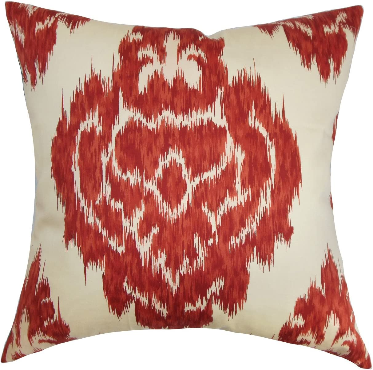 The Pillow Collection Ajayi Ikat Pillow, Red