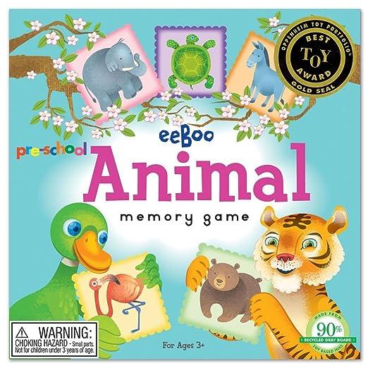 Amazon.com: Pre-School Animal Memory Game: Toys & Games