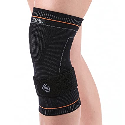 5719124d86 Shock Doctor Ultra Compression Knit Knee Support w/Patella Gel Support and  Strap Black /