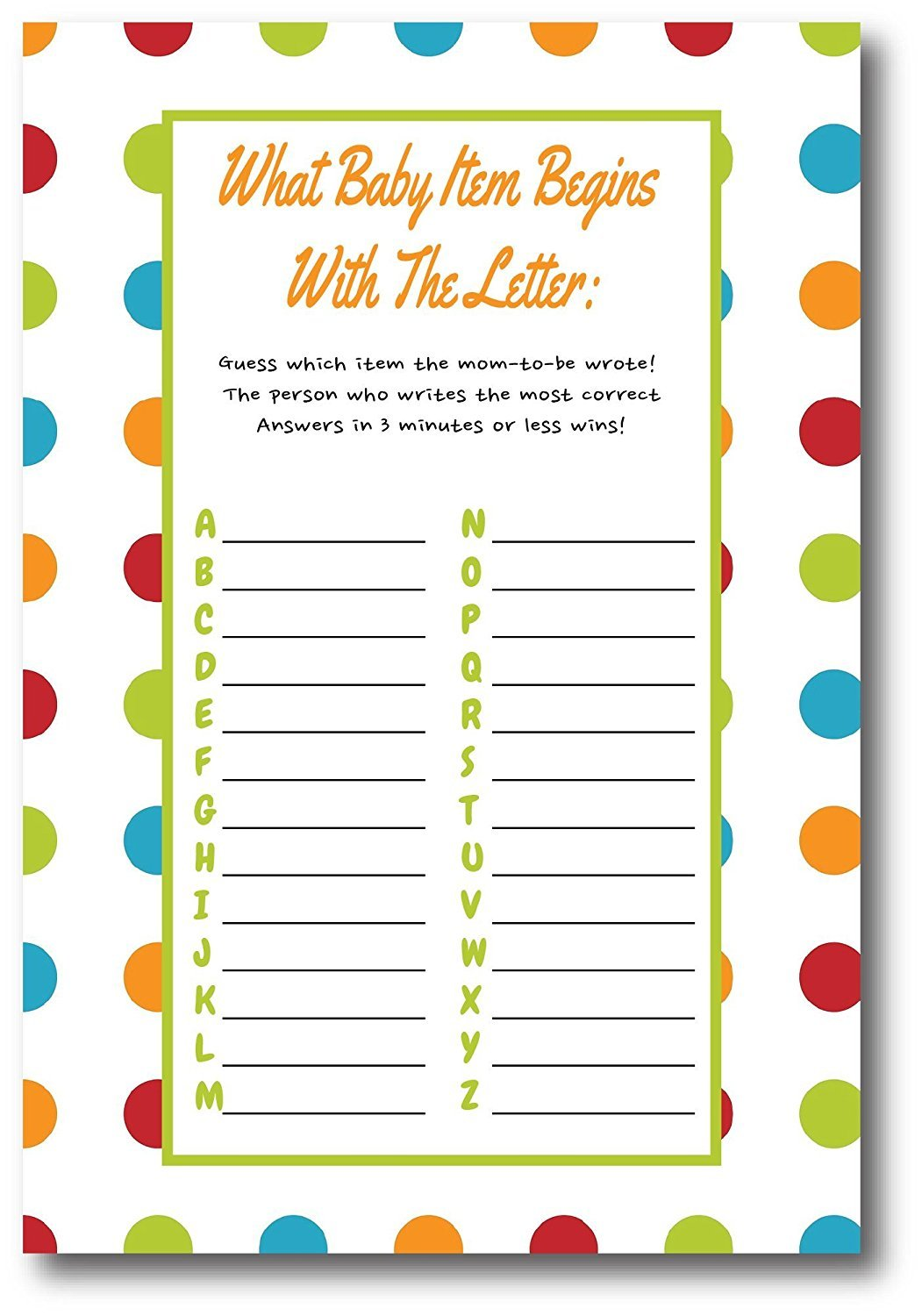 Baby Shower Games For Gender Neutral | By L&P Designs | Baby Party Ideas (What Baby Item Begins) by L&P Designs