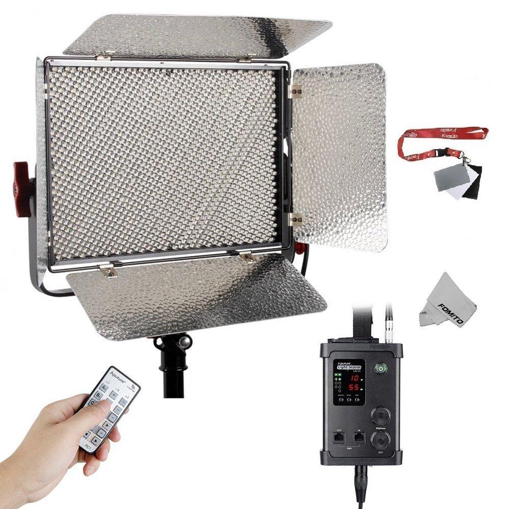 FOMITO® Aputure LS 1Sライト LEDライト 1536球 CRI95+ 色温度5500K 写真撮影ライトパネル 照明 補助光 定常光ライト スタジオビデオライト ワイヤレスリモート付属   B077S6K2XW