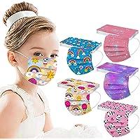 50 Pcs Disposable Printed Face_Masks for Kids,Starry Sky Facemasks for Children