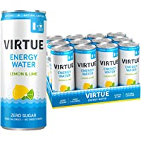 Virtue Lemon and Lime Healthy Energy Sparkling Water (Pack of 12), 3000 ml