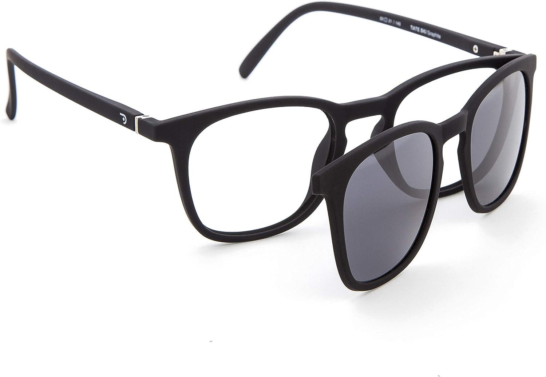 DIDINSKY Gafas de Presbicia con Filtro Anti Luz Azul con Capa de Sol. Gafas Clip on Imantadas para Hombre y Mujer. Tacto Goma y Cristales Anti-reflejantes. 6 colores – TATE CLIP ON