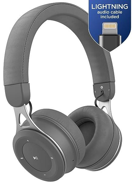 bfc4f9c69e6 Thore Bluetooth iPhone Headphones with Lightning Connector - Lightweight  Adjustable On Ear Wireless Earphones (MFI