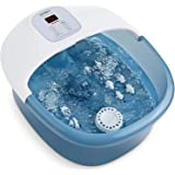 Foot Spa Bath Massager with Heat Bubbles Vibration, 14 Shiatsu Massaging Rollers to Relax Tired Feet, Adjustable…