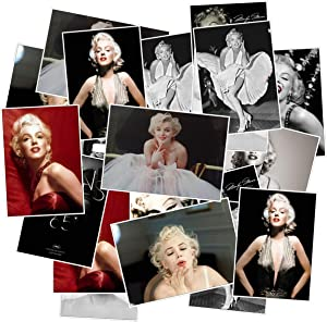 Actress Marilyn Monroe Stickers 25PCS for Laptop and Water Bottles,Waterproof Durable Trendy Vinyl Laptop Decal Stickers Pack for Teens, Water Bottles, Computer, Travel Case (Marilyn Monroe)