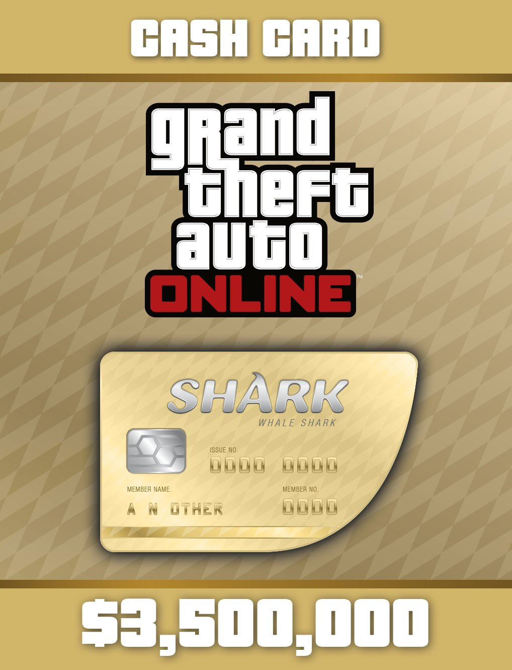 Grand Theft Auto V:  Whale Shark Cash Card - PS4 [Digital Code]