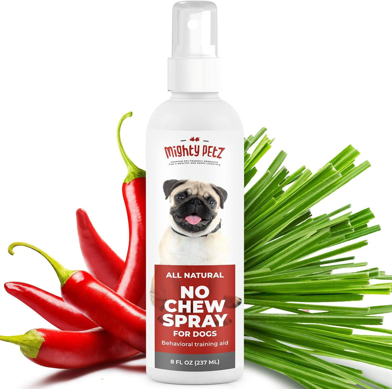 No Chew Spray for Dogs – 100% Natural Dog and Puppy Behavioral Training Aid – Dog Chewing & Biting Repellent – Alcohol Free Anti Chew Deterrent for Puppies and Older Dogs, Safe on All Surfaces, 8 oz