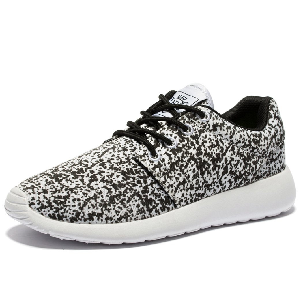EVILDOER Men & Women's Air Breathing Mesh Running Shoes,Walking Sneakers B01EOHJOB0 45 M EU / 11 D(M) US|Snow/Grey