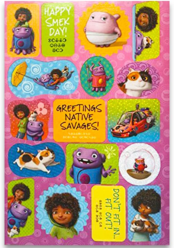 Party Favors 15 DreamWorks Home Movie Large Stickers Boov