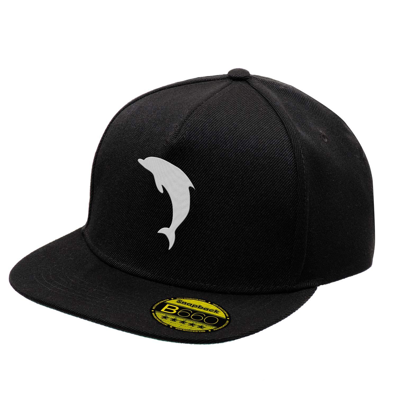 White Dolphin Negro Original Gorra Snapback Unisex Ajustable con ...