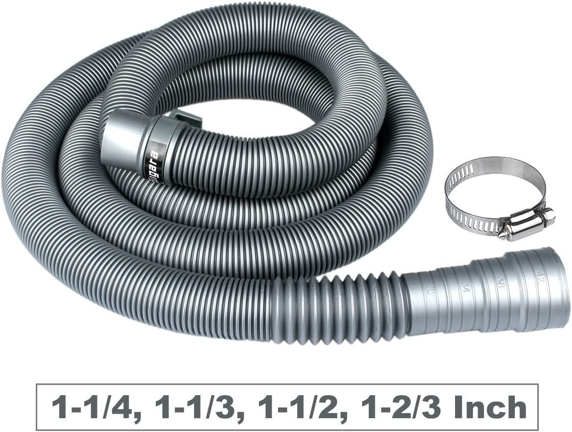 Washing Machine Drain Hose by Eligara | Long Discharge Pipe, Universal Fit All Washer Drain Hose Extension/Replacement Kit (6 Feet)