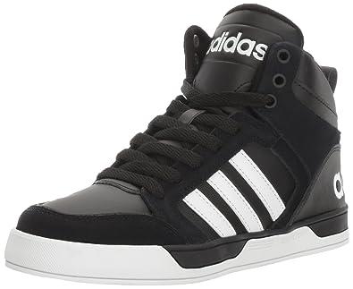 adidas NEO Boys' Raleigh 9TIS Mid K Sneaker, BlackWhiteBlack,