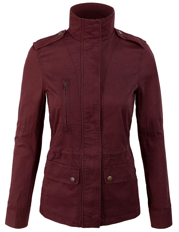 KOGMO Womens Military Anorak Safari Jacket Pockets