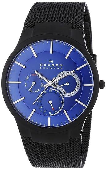 Skagen Multifunktion 809XLTBN - Reloj analógico de cuarzo para hombre, correa de acero inoxidable chapado color negro: Skagen: Amazon.es: Relojes