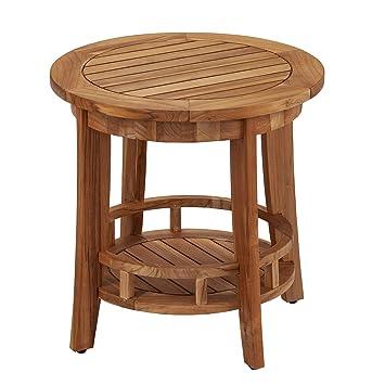 Amazon.com: Furniture HotSpot Julien - Mesa auxiliar redonda ...