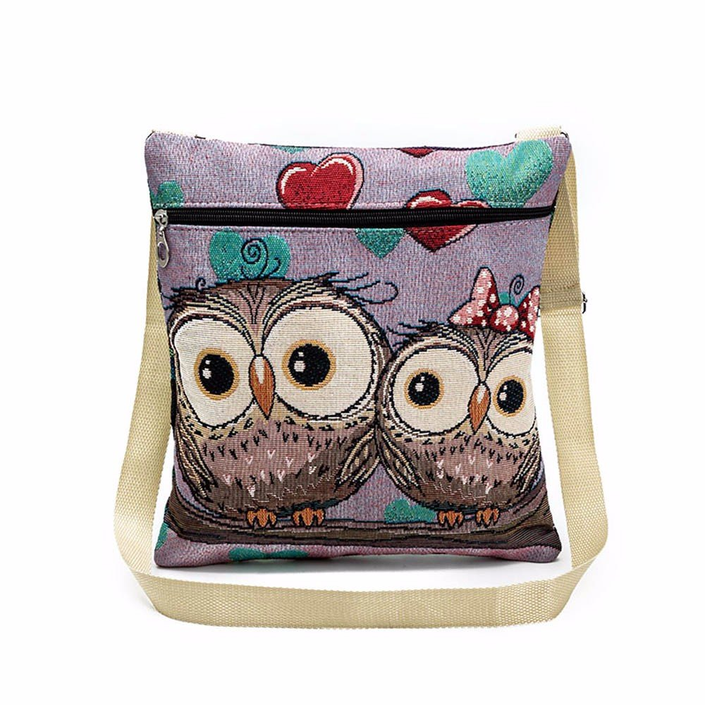 Women Shoulder Bags, Hmlai 2018 New Embroidered Owl Tote Bags Women Shoulder Bag Handbags Postman Package (G) by Hmlai (Image #1)