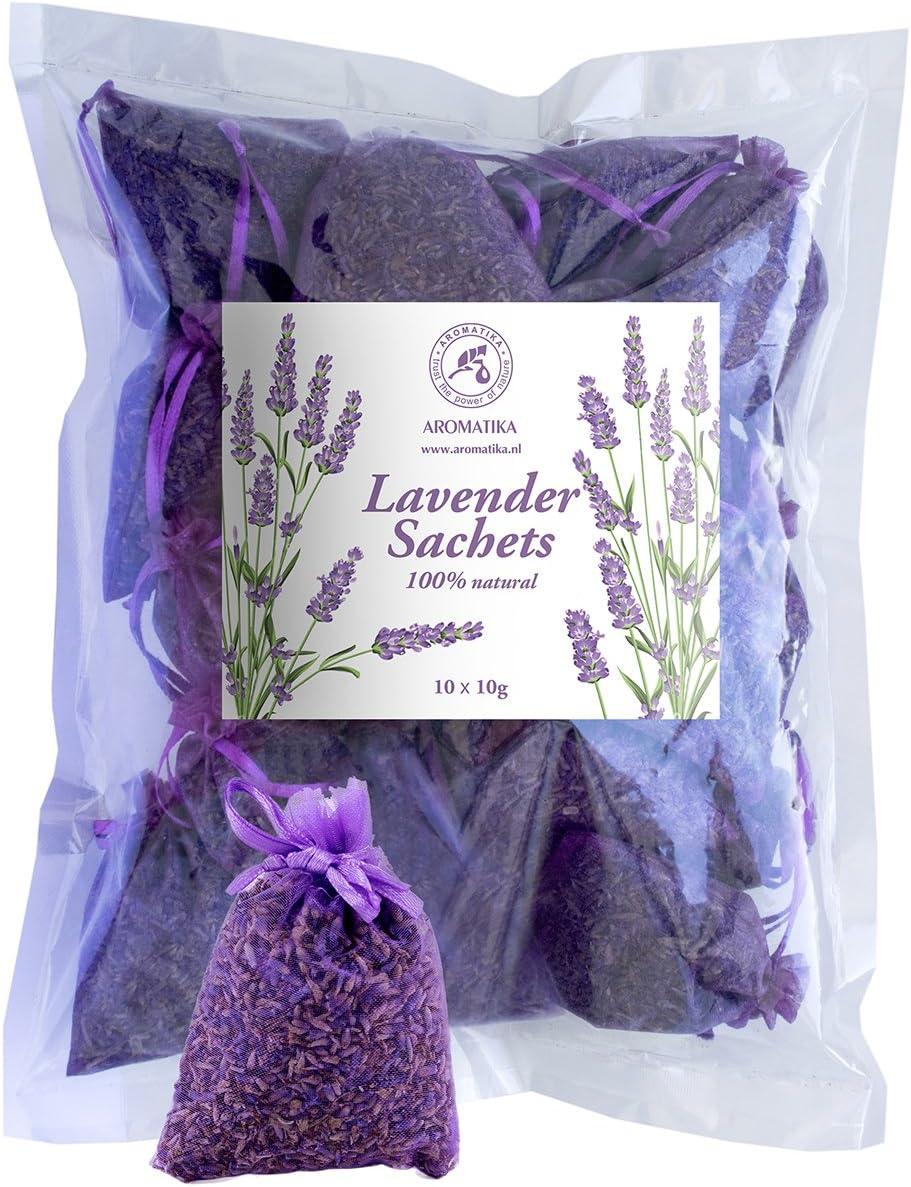 Lavender Sachets 10x10g - Lavanda Flowers - Lavender Blossom - Fragrant Lavender Flower from Provence - Organza Bags of Dried Lavender