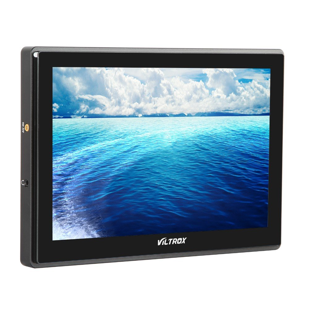 VILTROX DC-90HD 8.9' HD Video Monitor Supports 4K HDMI Input/Output 1920x1200 Pixels HD IPS LCD Camera Video Monitor Display HDMI AV Input for DSLR BMPCC with 11' Magic Arm