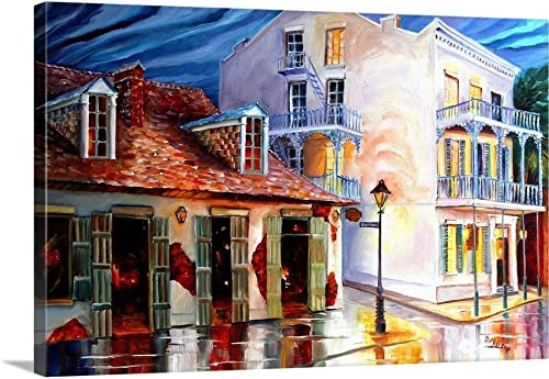 Lafitte Bar on Bourbon Street Canvas Wall Art Print
