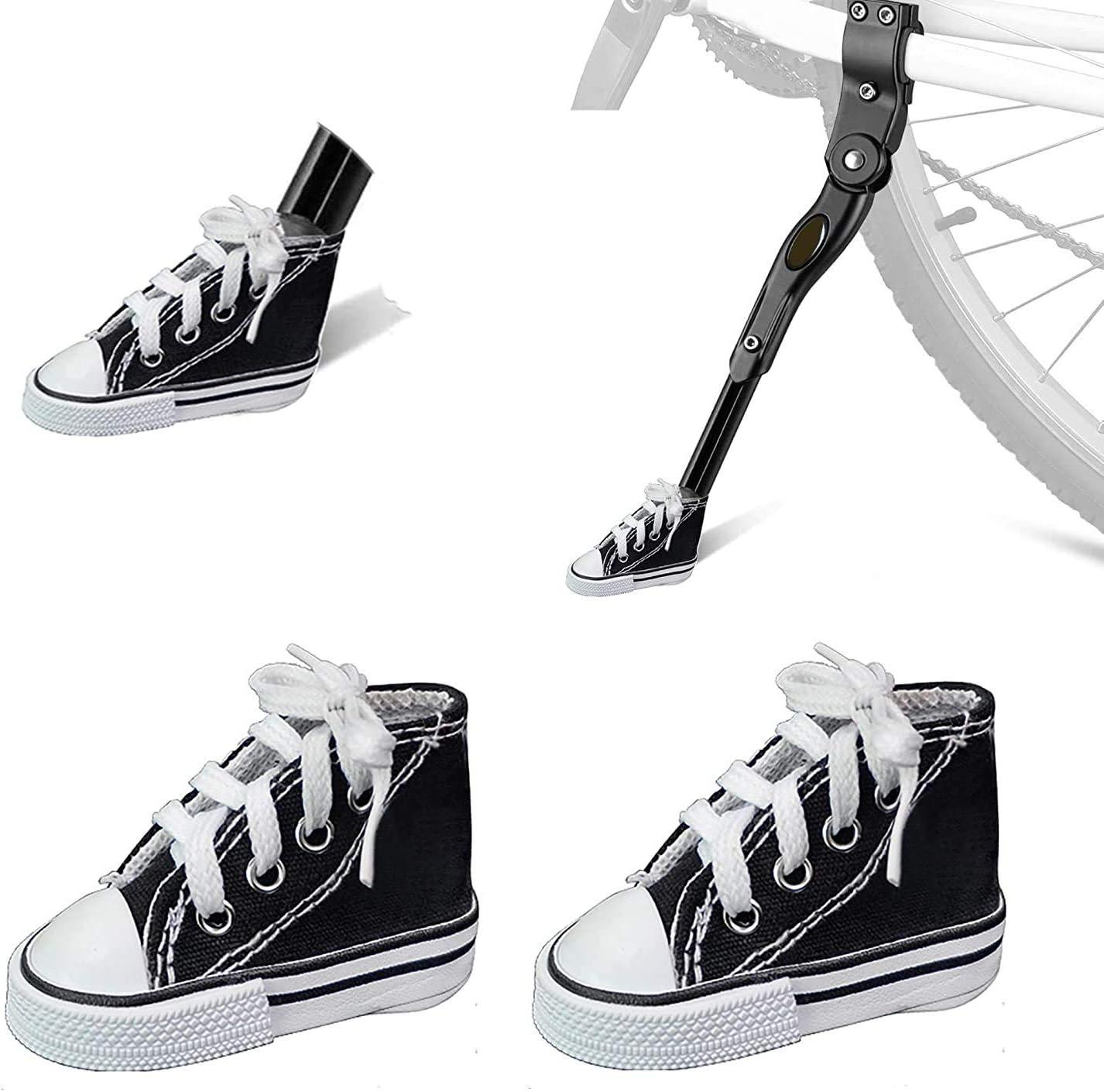 Nincee Motorrad Ständer Pad Motorrad Fahrrad Fußstütze Kleine Schuhe Hilft Ihnen Ihr Fahrrad Auf Heißem Pflaster Boden Weichem Boden Zu Parken Sport Freizeit