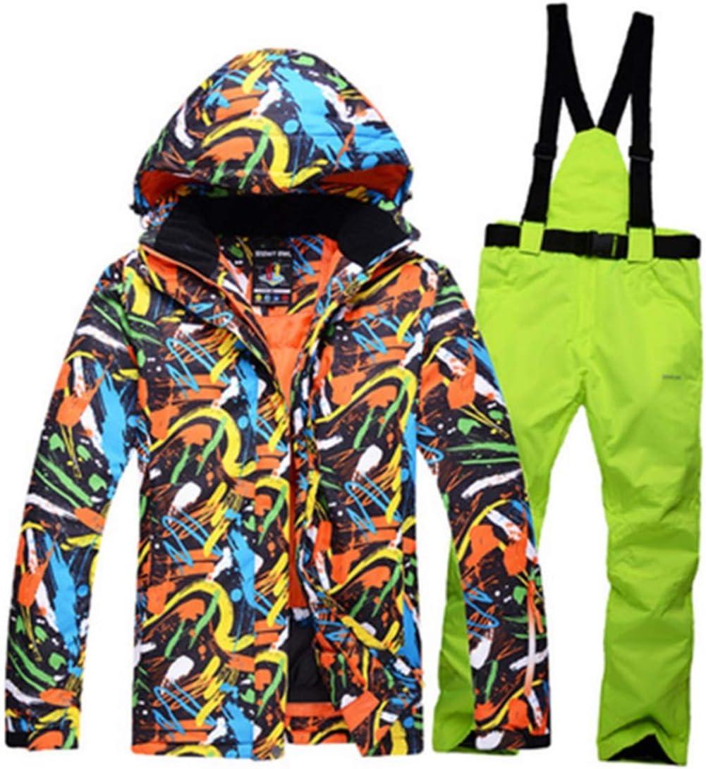 LilyAngel メンズスノーシューズウィンタースキージャケット&パンツセット  Large
