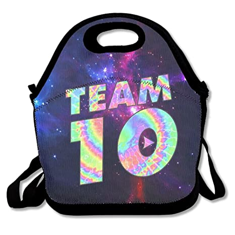 Amazon.com  Team10 Tie Dye Jake Paul Lunch Bag Tote Lunchbox With ... 2869d7cfde027