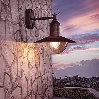 Außenleuchte Landhaus wand laterne acrylglas 28 6 cm braun außenleuchte rustikaler