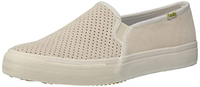 bdfaed80034 Keds Double Decker Perf Suede Women 5 Snow White