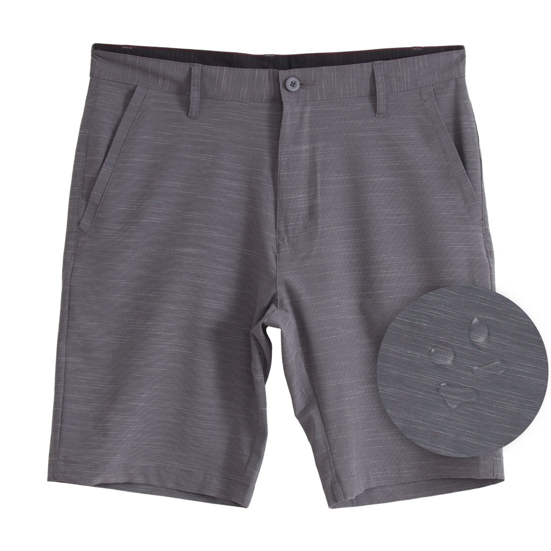Burnside Hybrid Stretch Shorts for Mens Lightweight Boardshorts Grey - 36