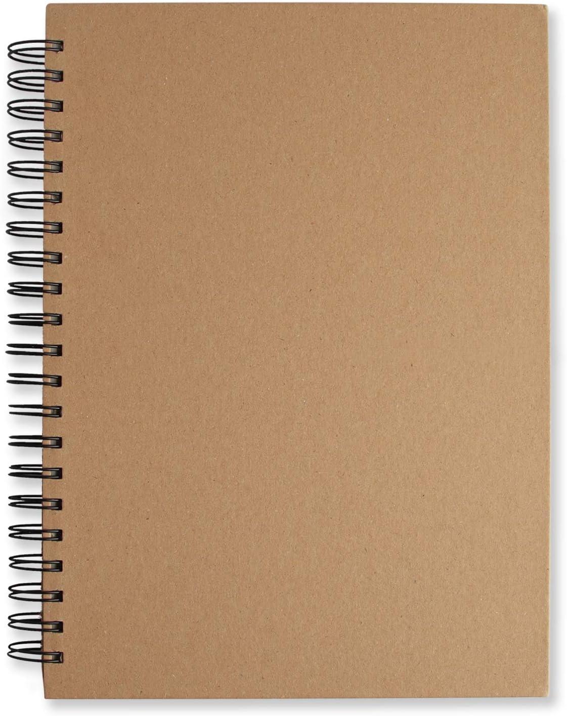 Carnet de Croquis Papier A4 Avec Reliure Spirale Double et Couverture Rigide 60 Feuilles 120 Pages Utilis/é Pour le Dessin Croquis Papier Blanc Sans Acide Dessin 110 g // m/² Cahier de Dessin