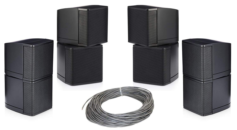 Pure共鳴オーディオmc2.5b Miniキューブ2.5インチスピーカーバンドルwithインストールワイヤ – ホーム値パック(5アイテム) (ブラック) B06XY6WW9D