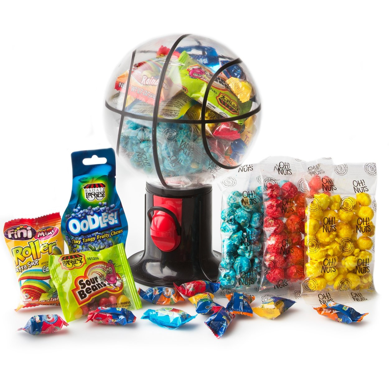 Kosher Camp Packages and Gifts - Kosher Snack and Kosher Candy - Oh! Nuts (Sports Candy Dispenser)