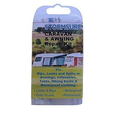 Stormsure Caravan /& Awning Repair Kit Leaks /& Splits RKBOXCARAV Fixes Rips