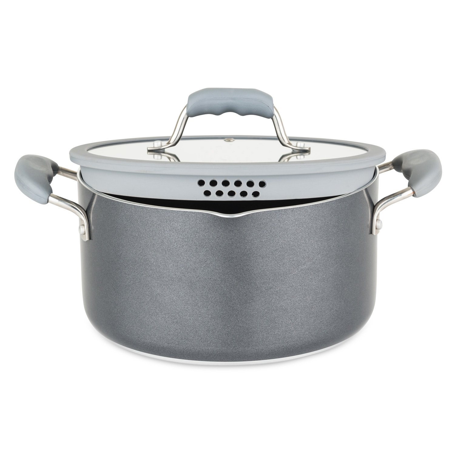 Chopped 60141-9990-GRY Aluminum Cookware Set, 10 Piece, Gray by Chopped (Image #5)