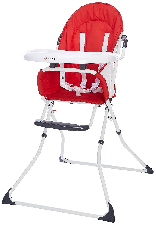 MON BEBE Chaise Haute pour bé bé /enfant pliable et confortable avec tablette, Navy Blue DORA3 2773555630