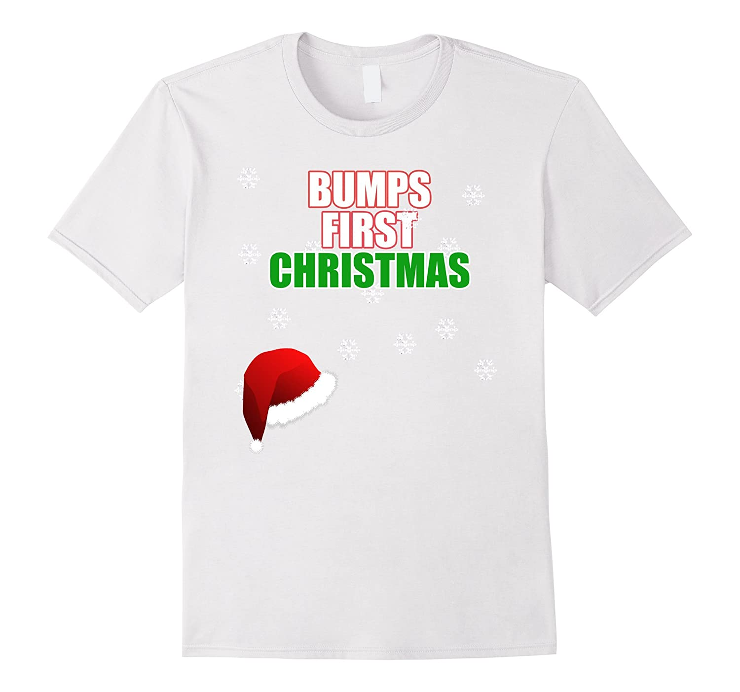 Maternity Christmas Shirt.Cute Bumps First Christmas Shirt Funny Xmas Maternity Shirt Bn