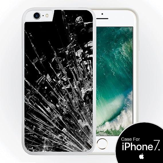 best service 64d07 6e339 Amazon.com: Broke Broken Shattered Glass White Hardshell Case for ...
