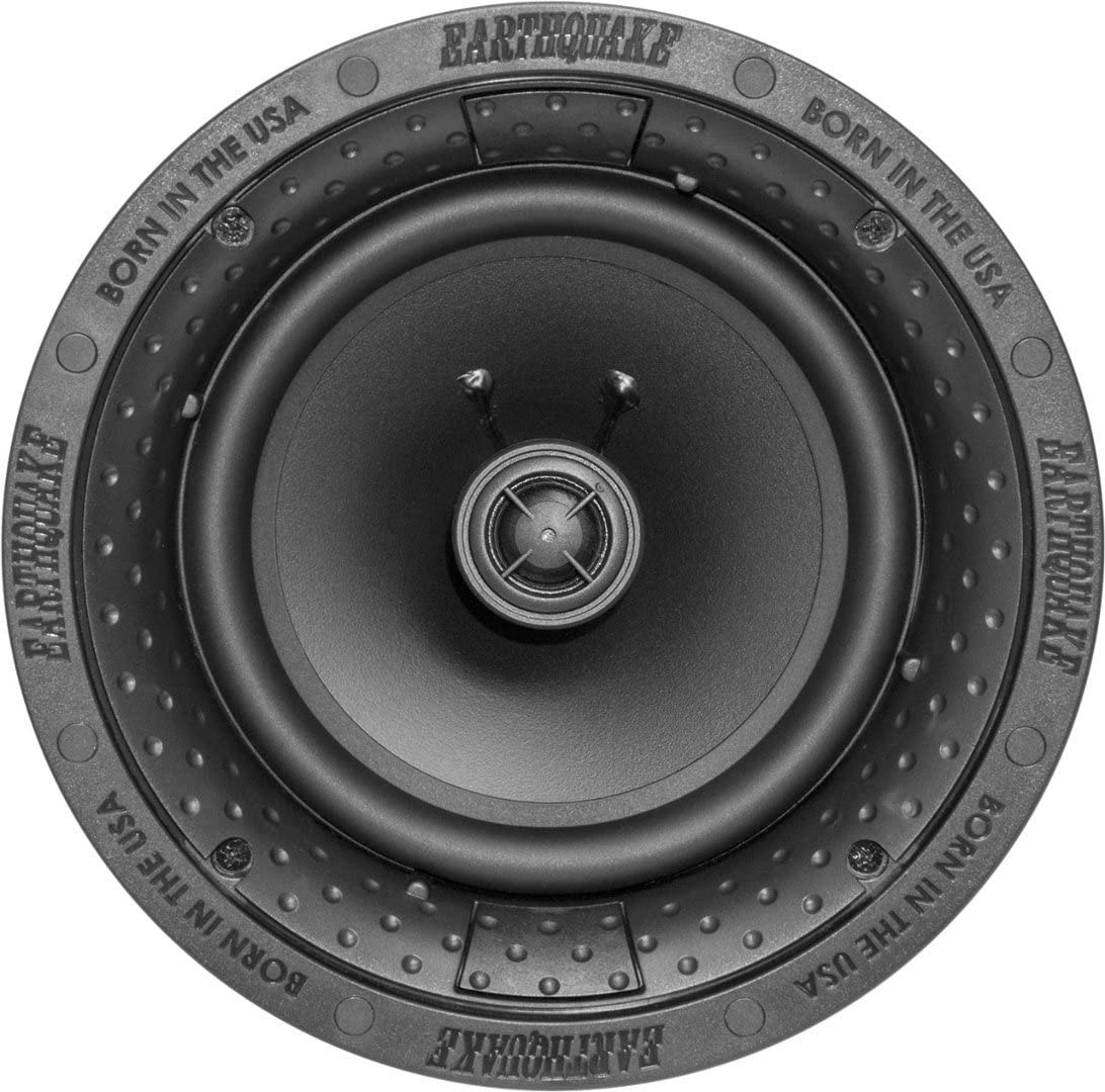 "Earthquake Sound R800 8"" in Ceiling Speakers(Pair) with Magnetic Paintable Grill"
