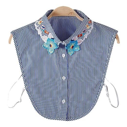 VIccoo Blusa de Mujer Sudadera Chaleco Solapa Falso Cuello Falso ...